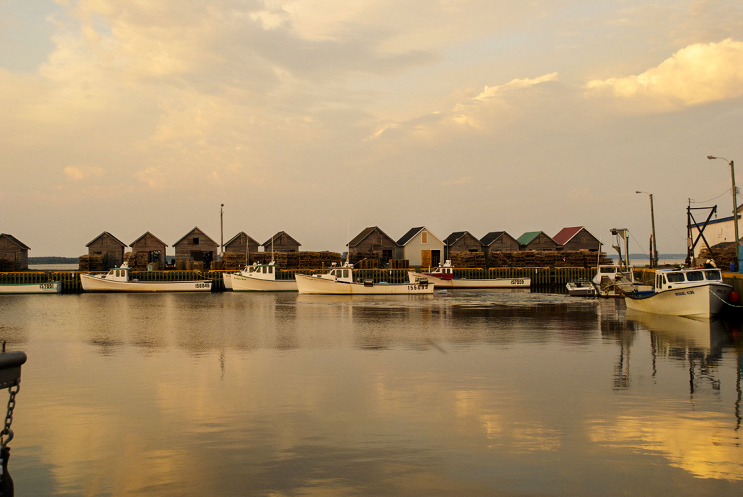 photo of boats in Red Head Harbour, PE